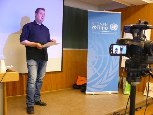Ville Lähde (Kuva: Suomen YK-liitto)