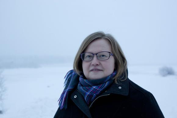 Saamelaiskäräjien puheenjohtaja Tiina Sanila-Aikio.