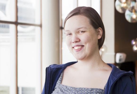 Vuoden 2013 Suomen YK-nuorisodelegaatti Tytti Matsinen. Kuva: Anna Autio