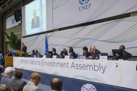 UNEA:n ensimmäinen historiallinen kokous järjestettiin Nairobissa. Kuva: UNEP